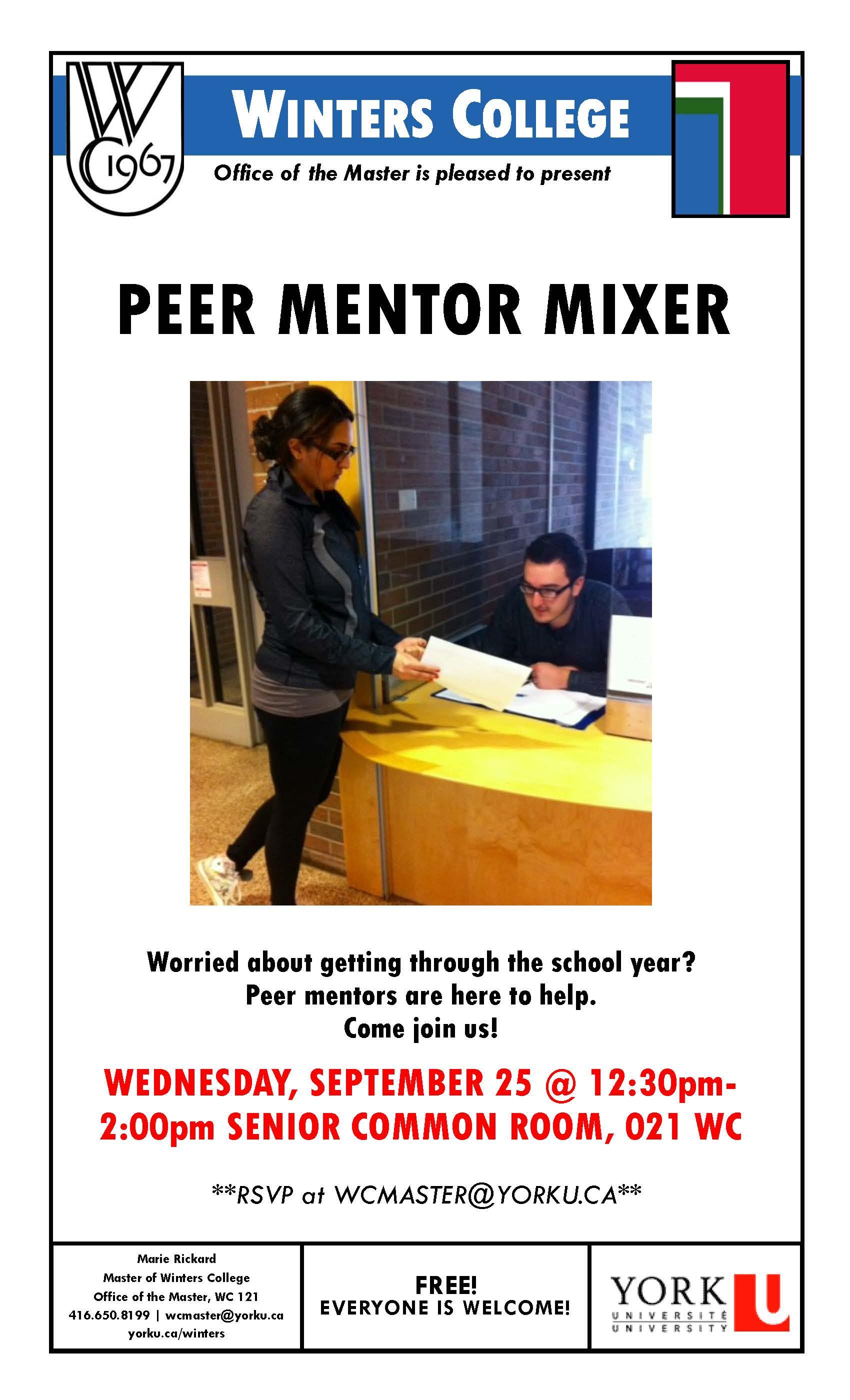 Peer Mentor Mixer